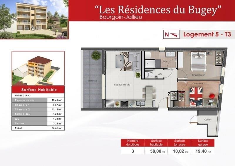 Vente appartement Bourgoin jallieu 189000€ - Photo 2