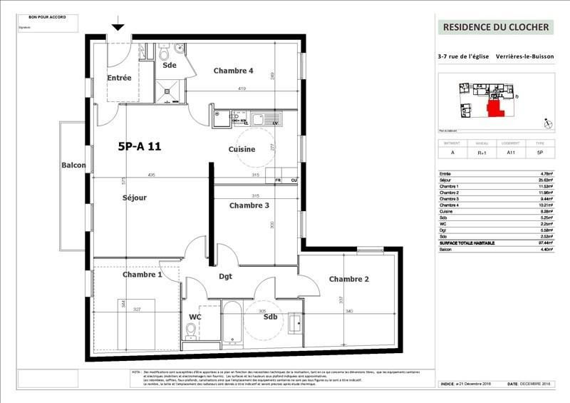 Sale apartment Verrieres le buisson 589500€ - Picture 1