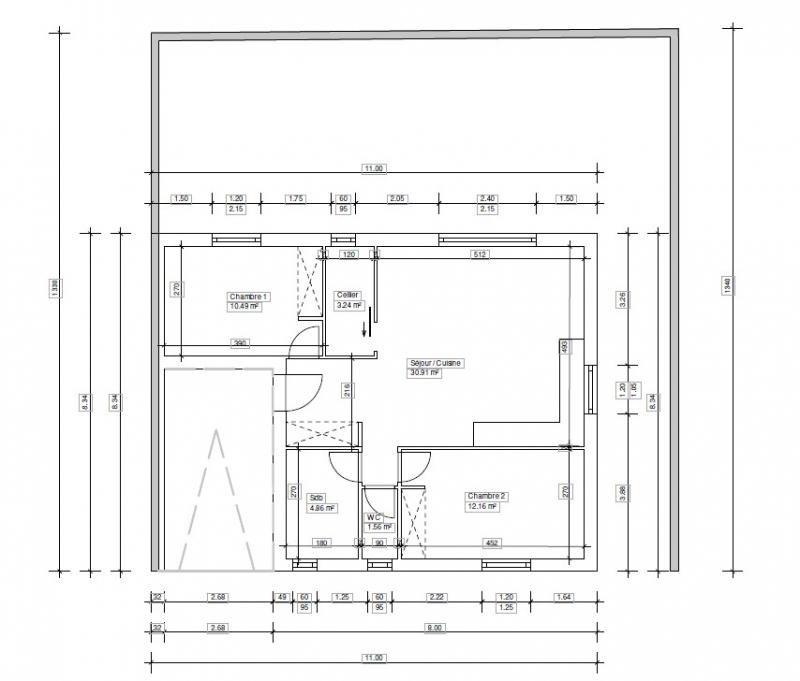 Vente maison / villa Pia 119500€ - Photo 2