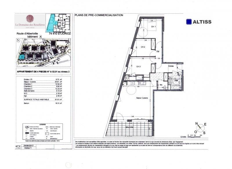 Sale apartment Saint jorioz 339000€ - Picture 2