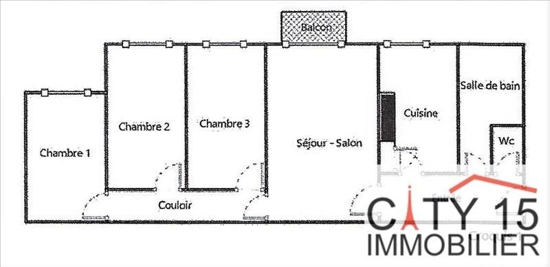 Vente appartement Paris 15ème 650000€ - Photo 1