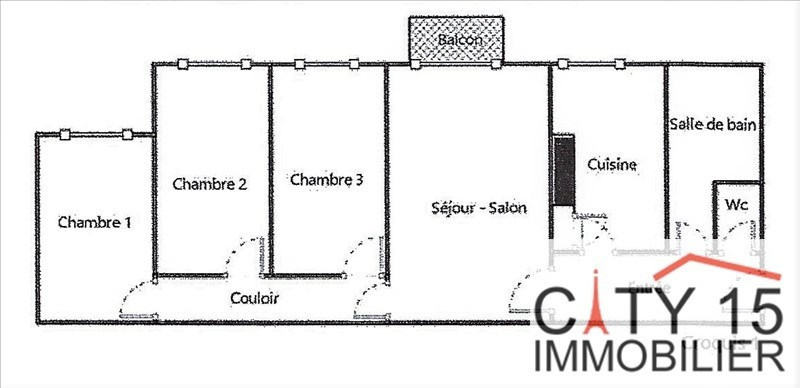 Verkoop  appartement Paris 15ème 650000€ - Foto 1