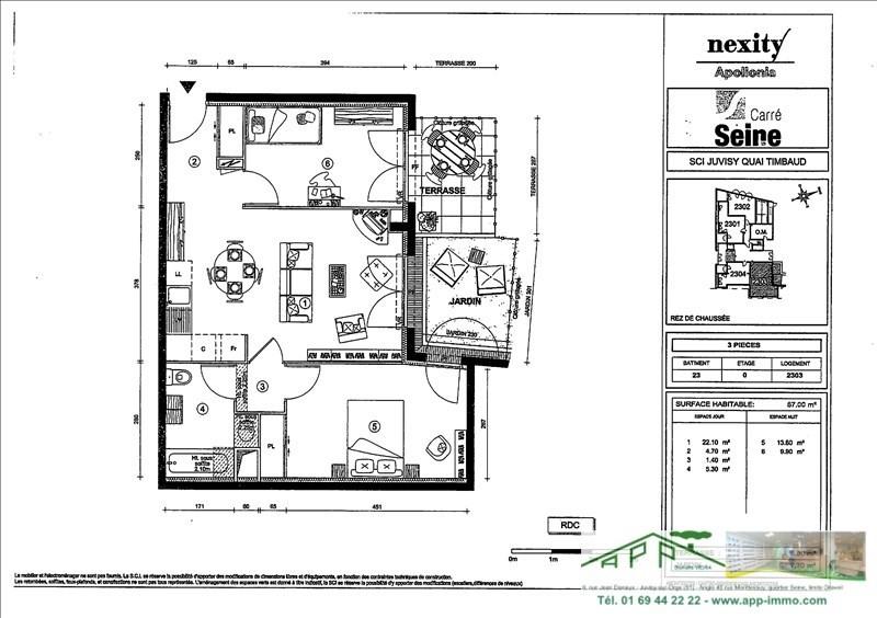 Rental apartment Juvisy sur orge 922€ CC - Picture 3