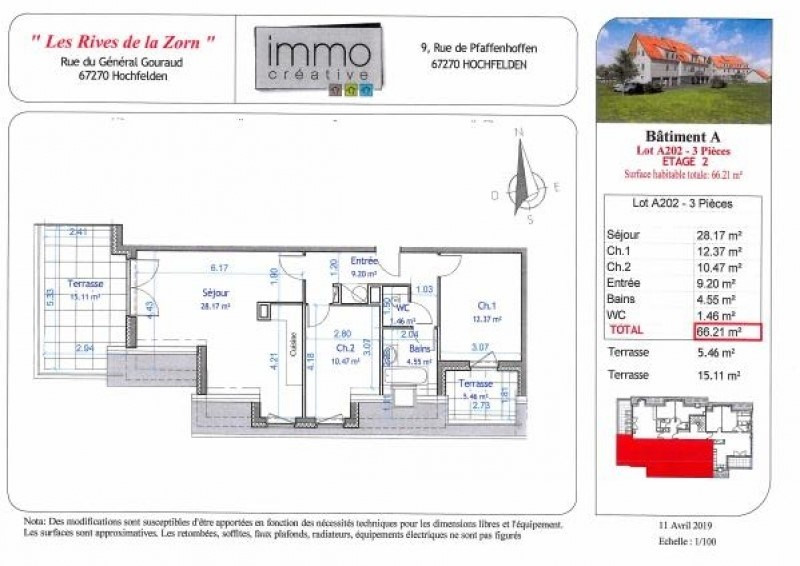 Vente appartement Hochfelden 198 000€ - Photo 4