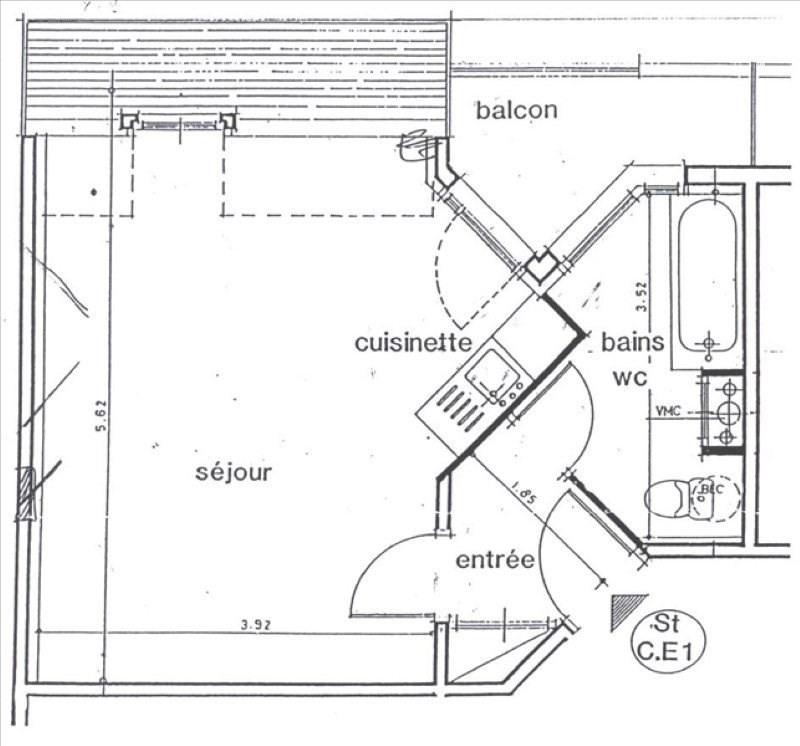 Sale apartment Bures sur yvette 150000€ - Picture 6