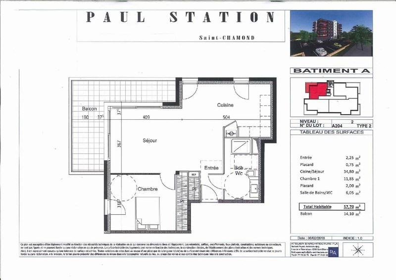Venta  apartamento St chamond 147000€ - Fotografía 3