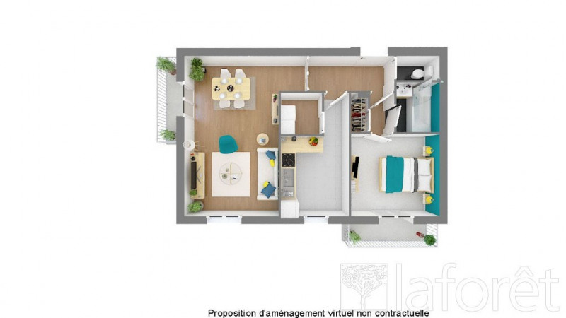 Vente appartement Bron 130 000€ - Photo 7