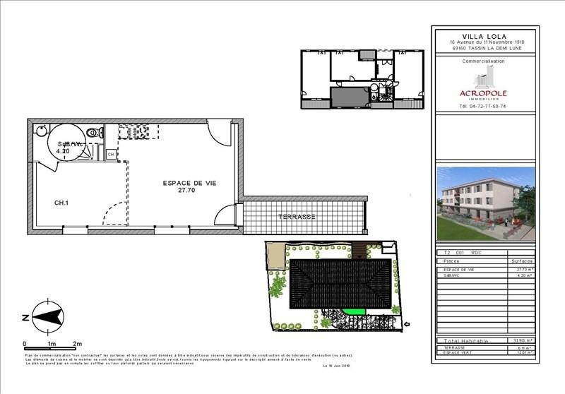 Vente appartement Tassin la demi lune 173000€ - Photo 2