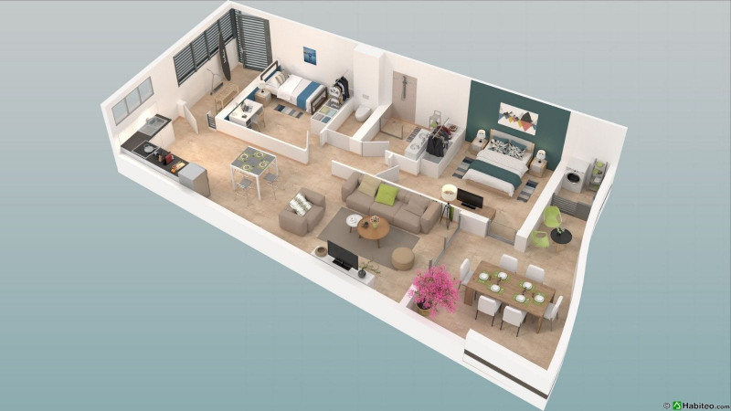 Investment property apartment Fort de france 289 000€ - Picture 2