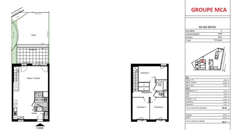 Vente maison / villa Bron 383000€ - Photo 4