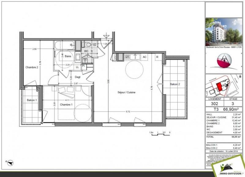 Sale apartment Lyon 4ème 480000€ - Picture 4