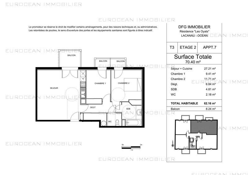 Vacation rental apartment Lacanau-ocean 478€ - Picture 8