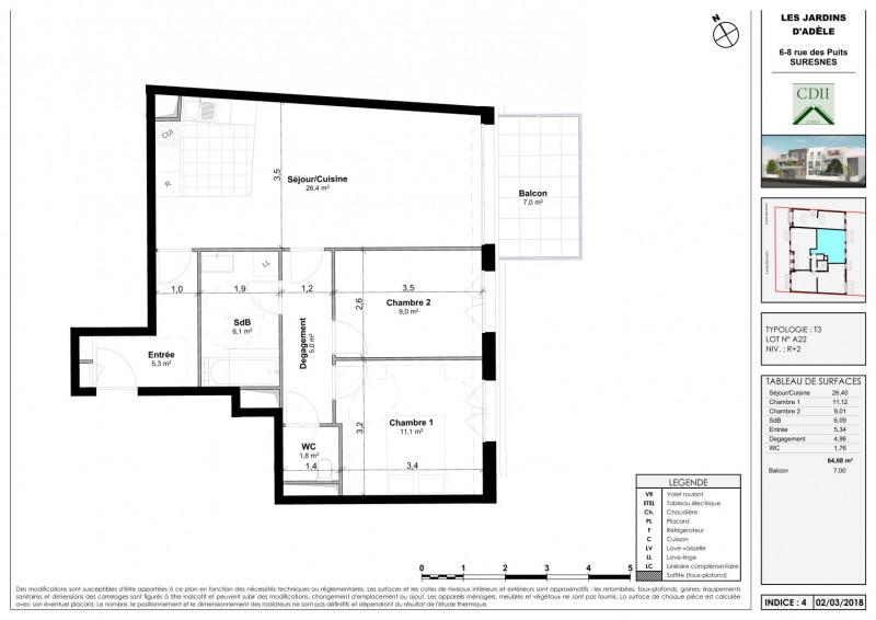 Sale apartment Suresnes 500000€ - Picture 3