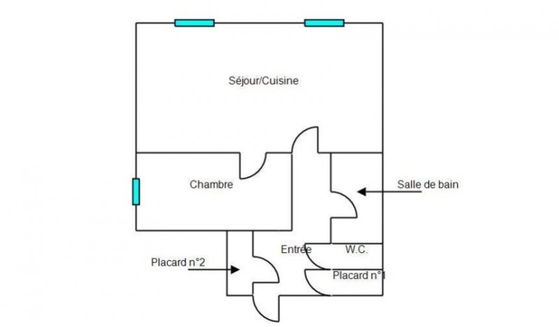 Venta  apartamento St chamond 57000€ - Fotografía 5