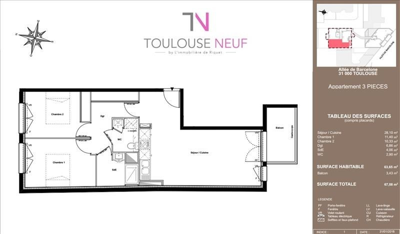 Vente appartement Toulouse 306 000€ - Photo 6