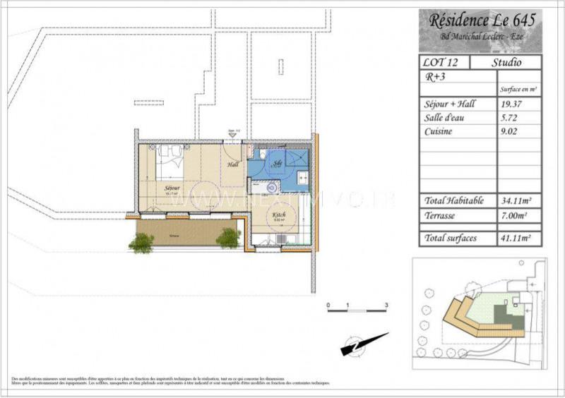 Vente appartement Èze 235359€ - Photo 3