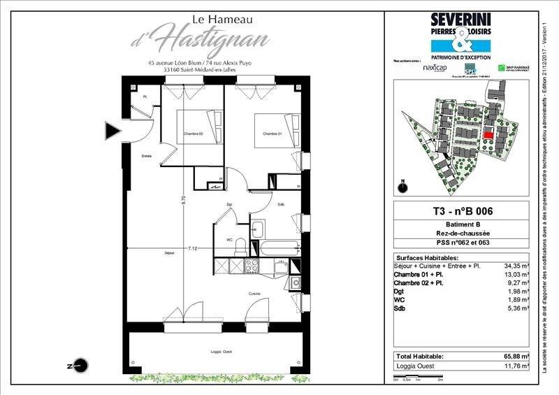 Vente appartement St medard en jalles 260000€ - Photo 4