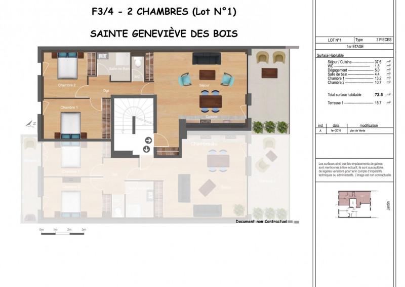 Vente appartement Sainte-geneviève-des-bois 274000€ - Photo 1
