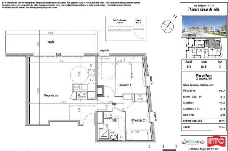Location appartement Thouare sur loire 663€ CC - Photo 7