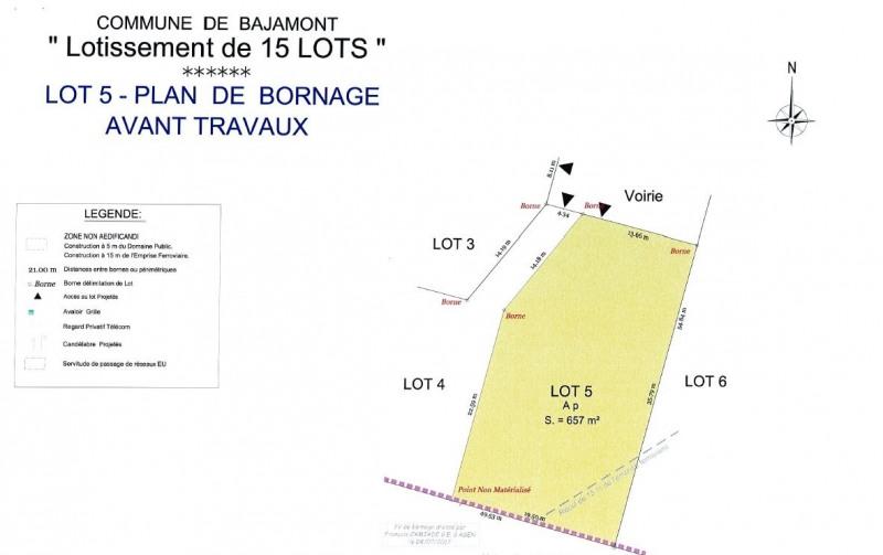 Terrain à bâtir - 657 m²