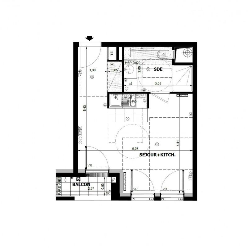 Investment property apartment Asnières-sur-seine 202000€ - Picture 1