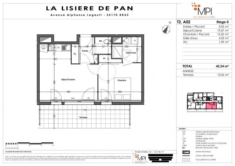 Vente appartement Bruz 248 000€ - Photo 9