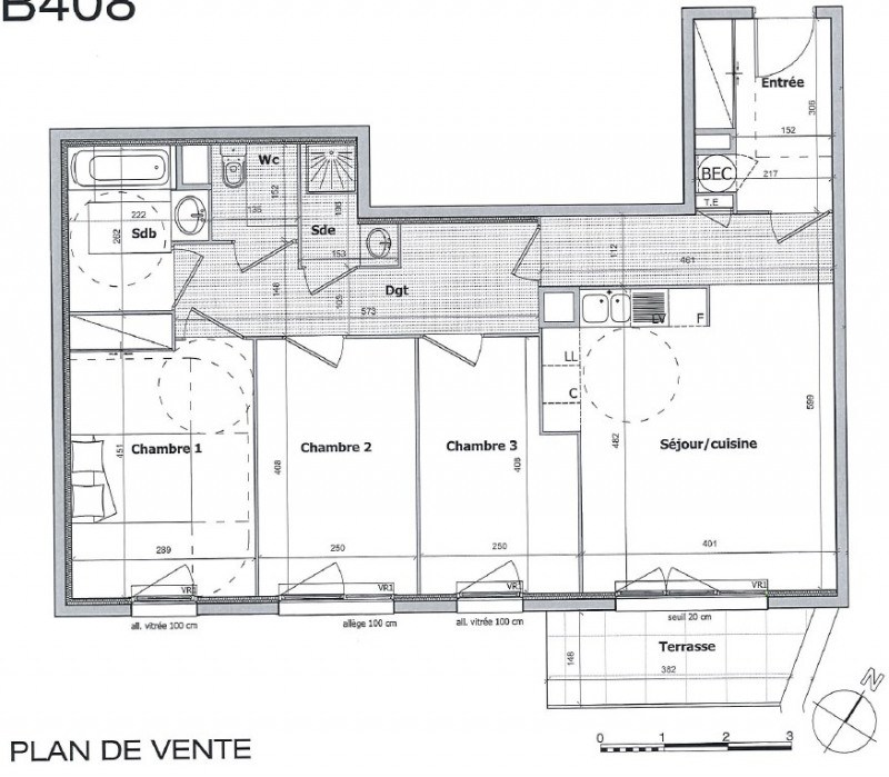 Vendita appartamento Cagnes sur mer 380000€ - Fotografia 2