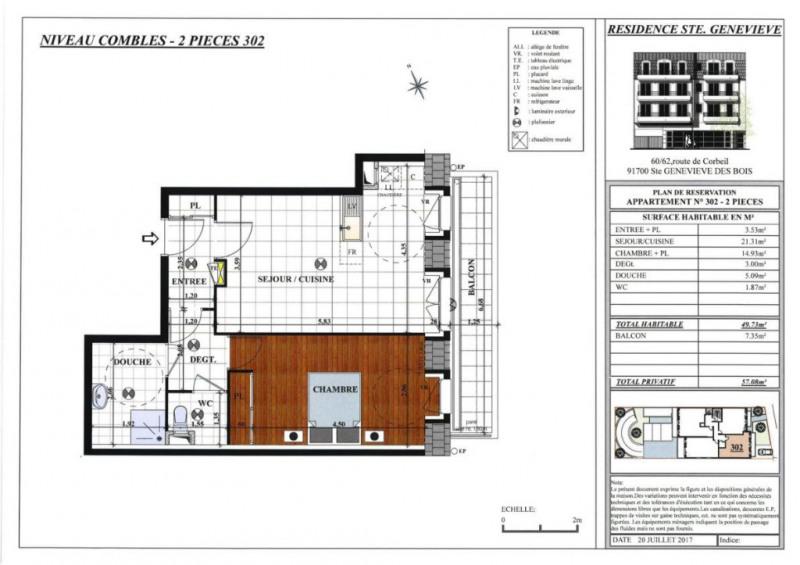 Vente appartement Sainte genevieve des bois 273000€ - Photo 3