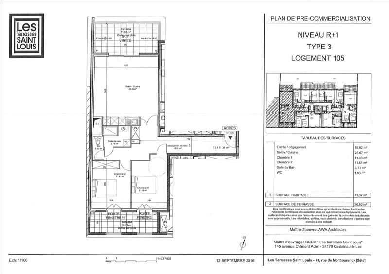 Location appartement Sete 846€ CC - Photo 1