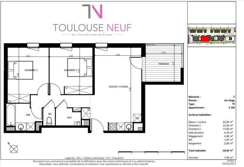 Vente appartement Cugnaux 219500€ - Photo 6