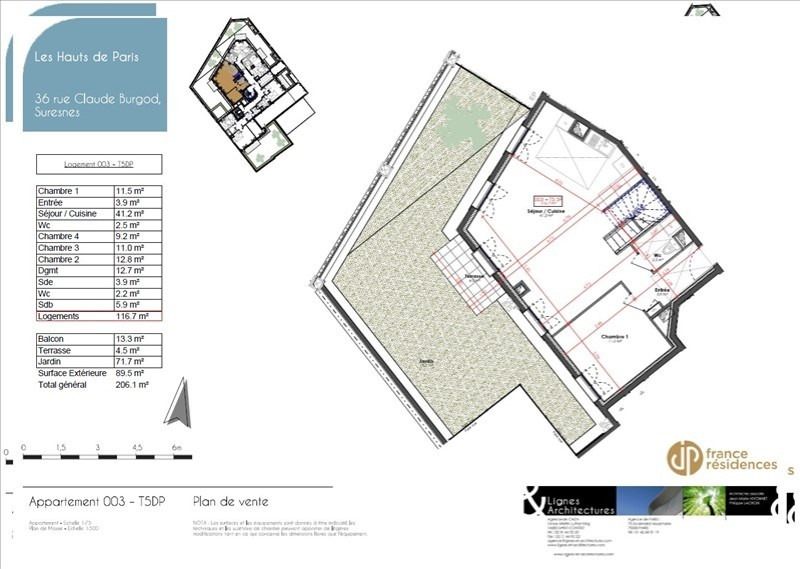 Sale apartment Suresnes 972700€ - Picture 4