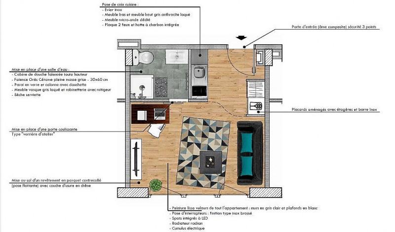Producto de inversión  apartamento Toulouse 129056€ - Fotografía 1