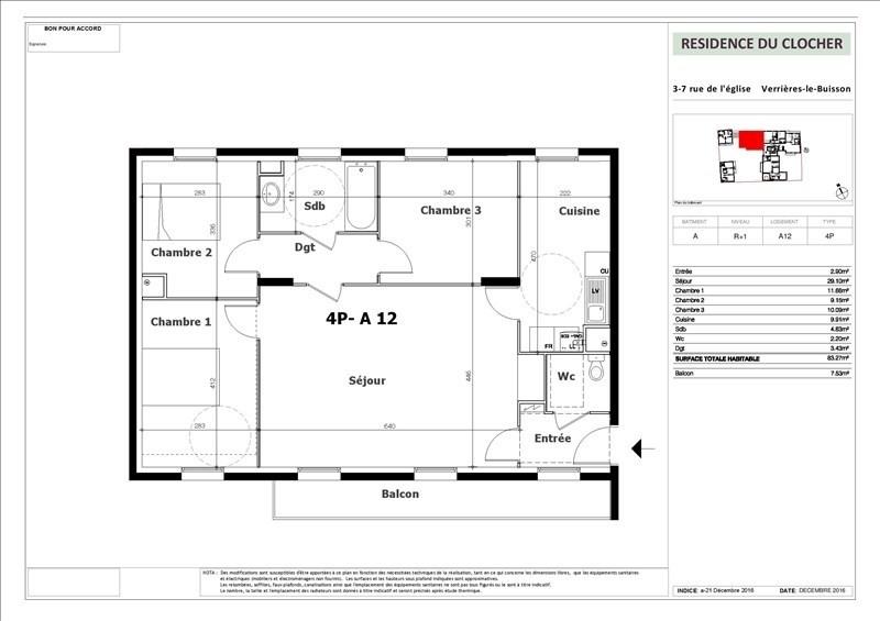 Sale apartment Verrieres le buisson 515000€ - Picture 1
