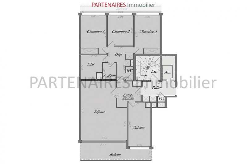 Sale apartment Le chesnay 542000€ - Picture 3