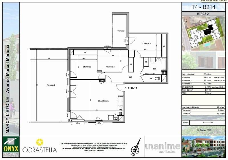 Alquiler  apartamento Marcy l etoile 1056€ CC - Fotografía 3