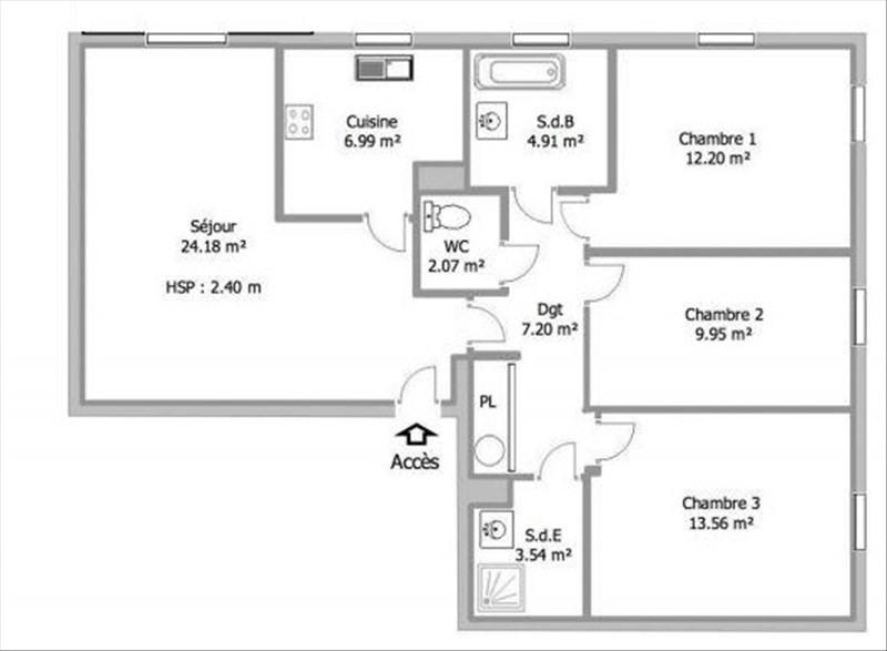 Location appartement Dammarie les lys 970€ CC - Photo 4