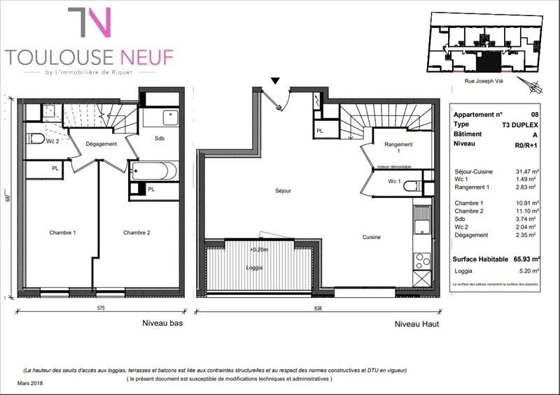 Vente appartement Toulouse 356900€ - Photo 5
