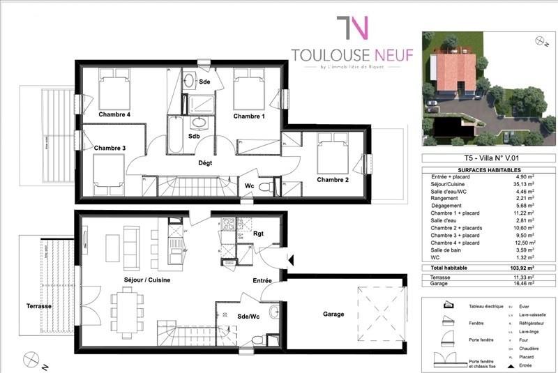 Vente maison / villa Tournefeuille 313900€ - Photo 3