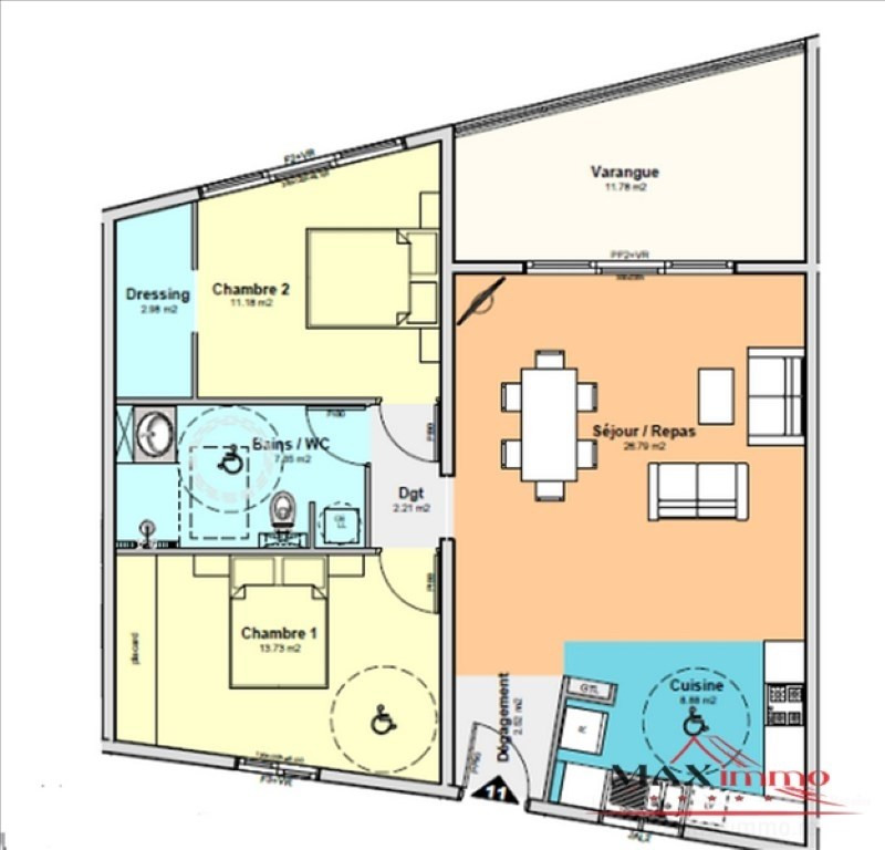 Vente appartement St denis 312100€ - Photo 2