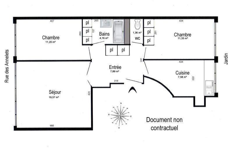 Sale apartment Paris 19ème 523950€ - Picture 1