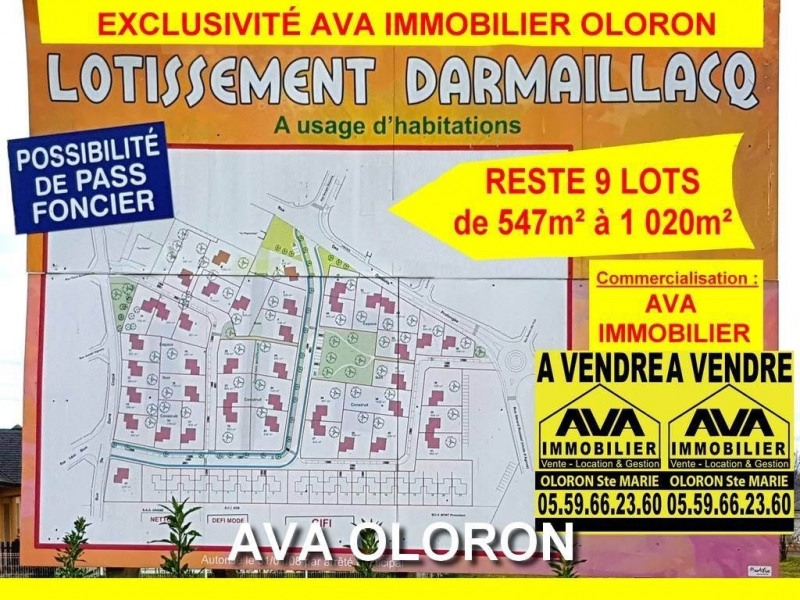 Vente terrain Oloron-sainte-marie 50 500€ - Photo 1