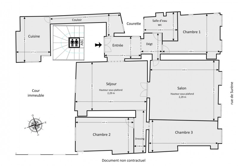 Sale apartment Paris 8ème 1250000€ - Picture 3