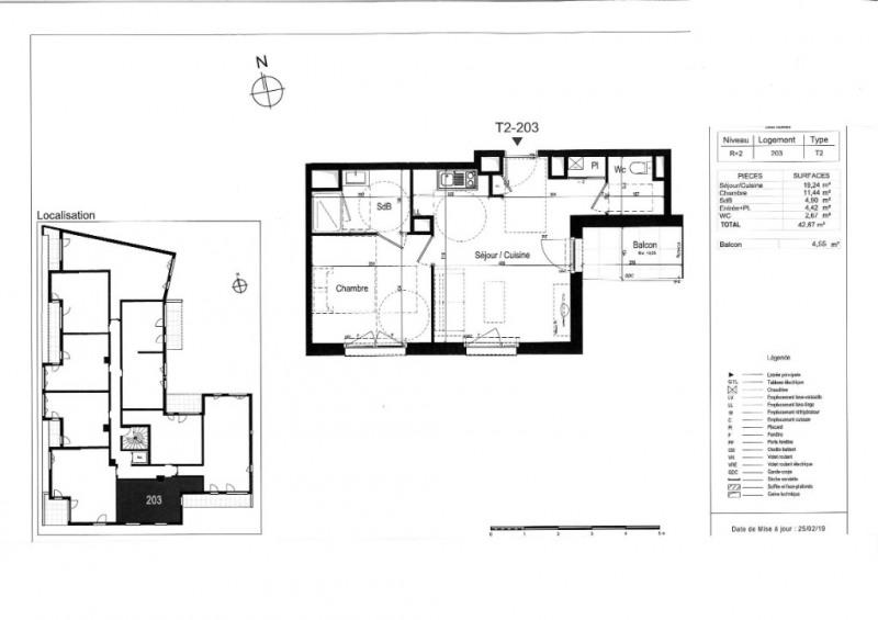 Venta  apartamento Rennes 206000€ - Fotografía 3
