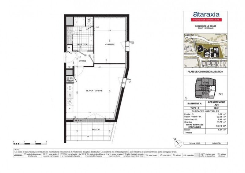 Alquiler  apartamento Saint herblain 524€ CC - Fotografía 2
