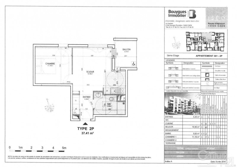 Rental apartment Caen 475€ CC - Picture 8