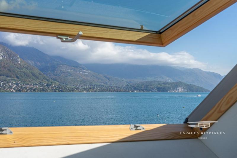 Appartement de caractère avec vue lac et plage privée