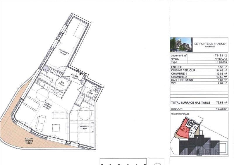 Deluxe sale apartment Grenoble 330000€ - Picture 2