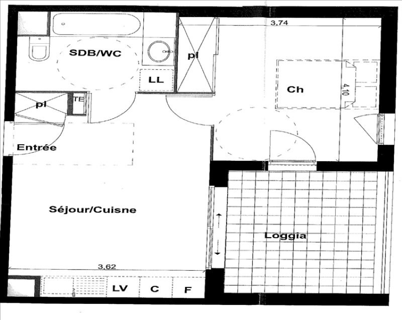 Alquiler  apartamento Montpellier 619€ CC - Fotografía 2