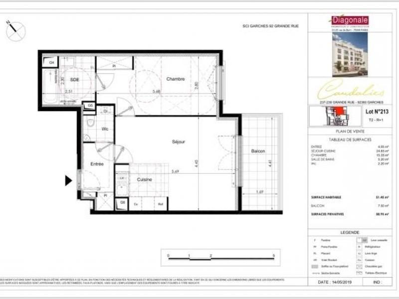Vente appartement Garches 445000€ - Photo 2