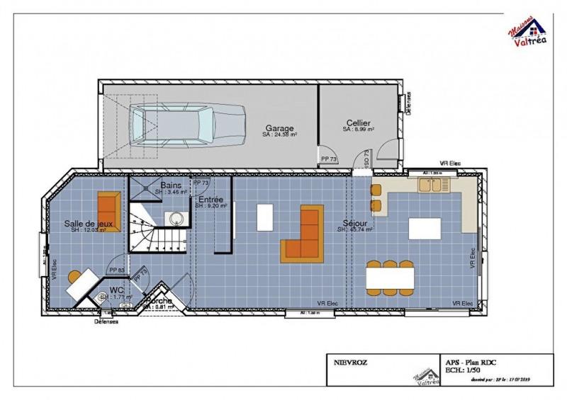 Vente maison / villa Nievroz 400000€ - Photo 3
